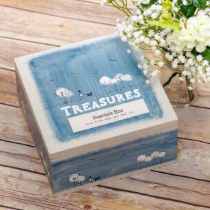 Personalised 'Treasures' Keepsake Box