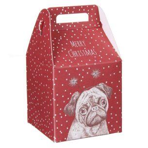 Christmas Pug Square Gift Box