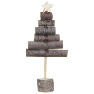 East of India Small Wooden Stick Tree Decoration