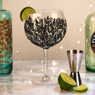 'Black Flower' Gin Balloon
