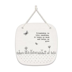 'Friendship' Square Porcelain Hanging Sign