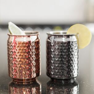 Stainless Steel Set of 2 Can Cups