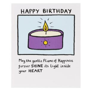Candle Happy Birthday Card