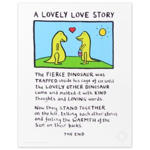Edward Monkton Lovely Love Story Limited Edition Large Poster Print