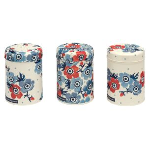 Anemone Set of Three Round Caddies