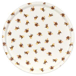 Bumblebees Birch Round Tray