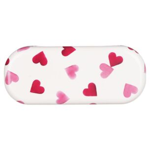 Pink Hearts Glasses Case