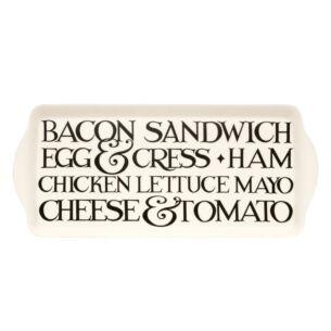 Black Toast Melamine Sandwich Tray