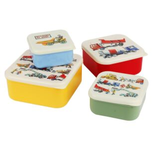 Builders at Work Set of 4 Snack Tubs
