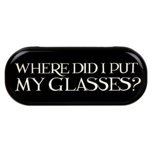 Emma Bridgewater 'Where Did I Put My Glasses' Black Toast Glasses Case