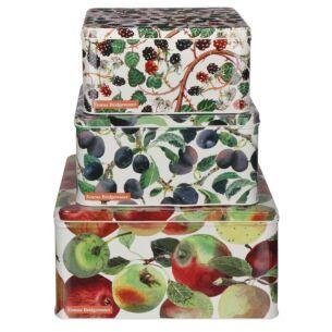 Fruits Set of Three Square Cake Tins
