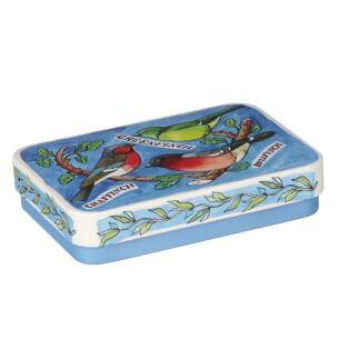 Garden Birds 'Finch' Slip Lid Tin