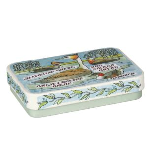 Garden Birds 'Grebe' Slip Lid Tin