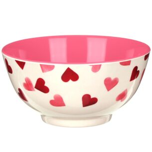 Pink Hearts Two Tone Bamboo Bowl