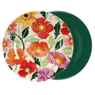 Poppies Two Tone Bamboo Plate