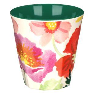 Poppies Two Tone Bamboo Beaker