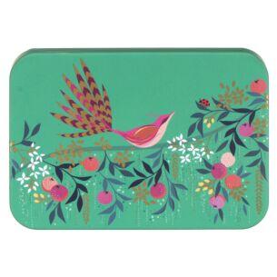 Orchard Bird Green Pocket Tin
