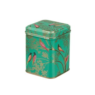 Square Green Birds Tin