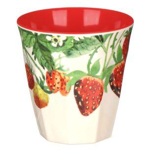 Strawberries Two Tone Bamboo Beaker