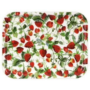 Strawberries Birch Rectangular Tray
