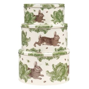 Rabbit & Cabbage Set of Three Cake Tins