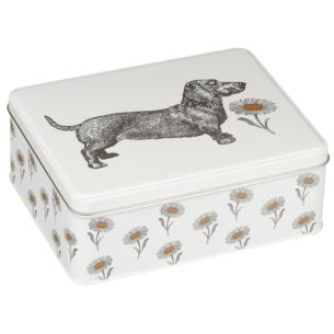 Dog & Daisy Deep Rectangular Tin