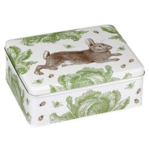 Rabbit & Cabbage Deep Rectangular Tin