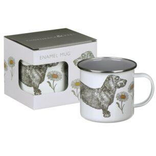 Dog & Daisy Enamel Mug