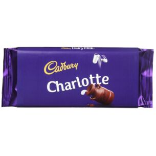 'Charlotte' 110g Dairy Milk Chocolate Bar