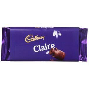 'Claire' 110g Dairy Milk Chocolate Bar