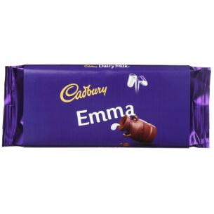 'Emma' 110g Dairy Milk Chocolate Bar