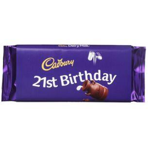 Cadbury '21st Birthday' 110g Dairy Milk Chocolate Bar