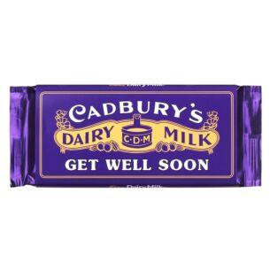 'Get Well Soon' 110g Dairy Milk Vintage Chocolate Bar