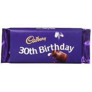 Cadbury '30th Birthday' 110g Dairy Milk Chocolate Bar
