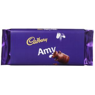 'Amy' 110g Dairy Milk Chocolate Bar