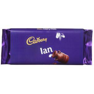 Cadbury 'Ian' 110g Dairy Milk Chocolate Bar
