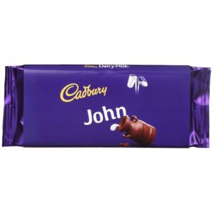 'John' 110g Dairy Milk Chocolate Bar