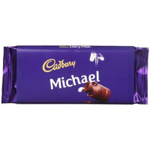 'Michael' 110g Dairy Milk Chocolate Bar