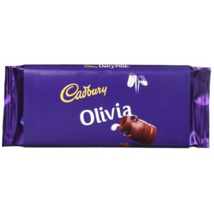 'Olivia' 110g Dairy Milk Chocolate Bar