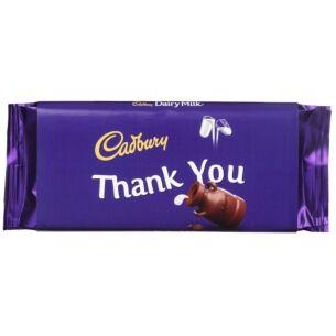 Cadbury 'Thank You' 110g Dairy Milk Chocolate Bar