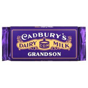 'Grandson' 110g Dairy Milk Vintage Chocolate Bar