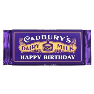 'Happy Birthday' 110g Dairy Milk Vintage Chocolate Bar
