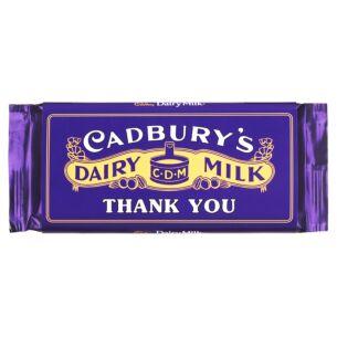 'Thank You' 110g Dairy Milk Vintage Chocolate Bar