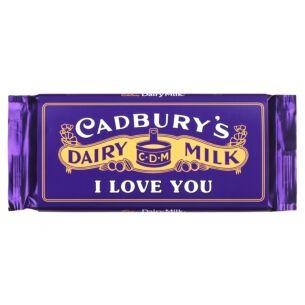 'I Love You' 110g Dairy Milk Vintage Chocolate Bar