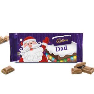 'Dad' 110g Christmas Milk Chocolate Bar