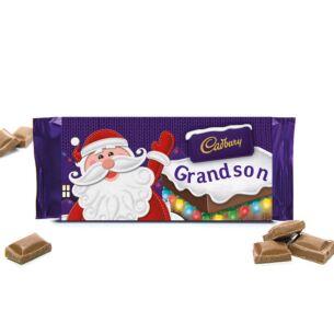 'Grandson' 110g Christmas Milk Chocolate Bar