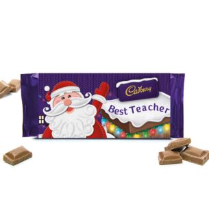 'Best Teacher' 110g Christmas Milk Chocolate Bar