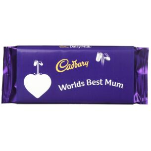 'World's Best Mum' 110g Dairy Milk Chocolate Bar