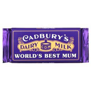 'World's Best Mum' 110g Dairy Milk Vintage Chocolate Bar