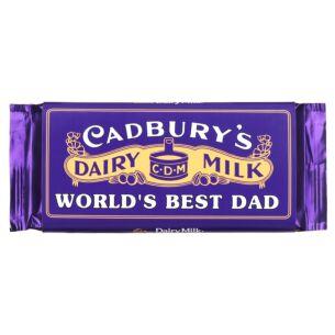 'World's Best Dad' 110g Dairy Milk Vintage Chocolate Bar